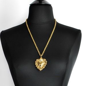LOVE MOSCHINO gold heart pendant vintage